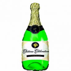 CHAMPAGNE BOTTLE - BALON FOLIE, FORMA STICLA SAMPANIE, 90CM