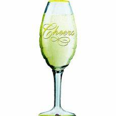 CHAMPAGNE GLASS - BALON FOLIE, FORMA PAHAR SAMPANIE, 90CM