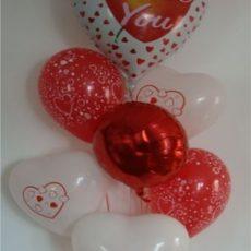 BE MY VALENTINE! BUCHET BALOANE UMFLATE CU HELIU, COD 1 VALENTINE'S DAY- ridicare personala din magazin Belballon