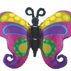 BUTTERFLY BRILLIANT FLUTURE - BALON FOLIE FIGURINA, 100CM