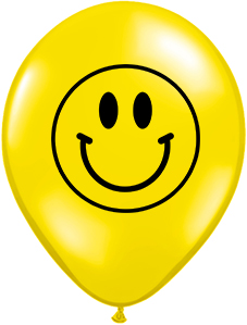 BALOANE LATEX - IMPRIMARE SMILEY, DIAM. 30CM, SET DE 10 BUC.