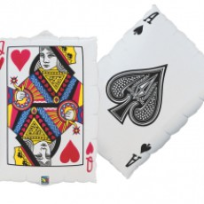 CASINO PLAYCARDS - BALON FOLIE, 76CM