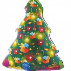 CHRISTMAS TREE - BALON FOLIE FIGURINA CRACIUN, 80CM