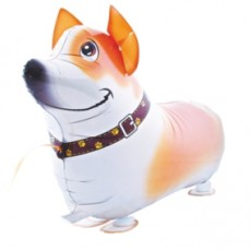 CĂȚEL  JACK RUSSEL - BALON FOLIE FIGURINA, MODEL WALKING, 54CM