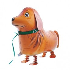 CĂȚEL GOLDEN RETRIEVER - BALON FOLIE FIGURINA, MODEL WALKING, 73CM