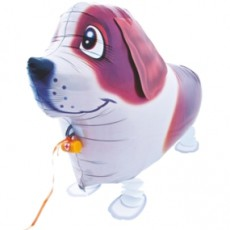 CĂȚEL SAINT BERNARD - BALON FOLIE FIGURINA, MODEL WALKING, 70CM