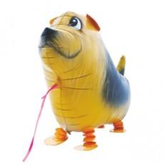 CĂȚEL TERRIER - BALON FOLIE FIGURINA, MODEL WALKING, 48CM