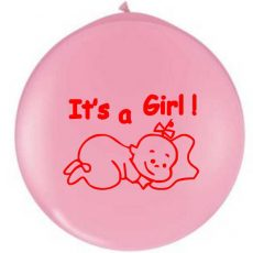 BALON LATEX GIGANT IMPRIMARE STANDARD IT'S A GIRL!
