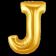 "LITERA ""J"" - BALON FOLIE, CULOARE AURIE, INALTIME 101CM"