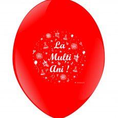 "BALOANE LATEX - IMPRIMARE ""LA MULTI ANI!"", DIAM. 30CM, SET DE 10 BUC."
