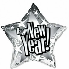 NEW YEAR STAR - BALON FOLIE, FORMA STEA, DIAM. 50CM