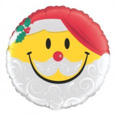 BALON FOLIE CRACIUN SMILE FACE SANTA 45CM
