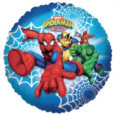 SPIDERMAN & FRIENDS - BALON FOLIE, FORMA ROTUNDA, DIAM. 45CM
