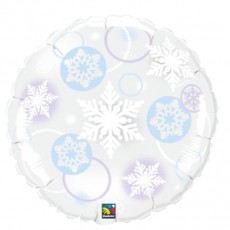 WINTER SNOWFLAKES, BALON FOLIE, 50CM