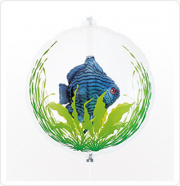 PESTE IN BALON - BLUE FISH - BALON FOLIE, DIAM. 55CM