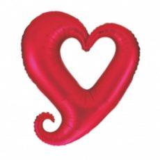 CHAIN OF HEART - BALON FOLIE LOVE, QUALATEX, DIAM. 90CM