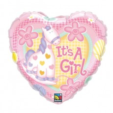 BALON FOLIE IT'S A GIRL PONY 45CM