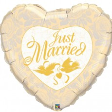JUST MARRIED IVORY, BALON FOLIE, 90CM