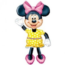 MINNIE MOUSE AIRWALKER - BALON FOLIE FIGURINA, INALTIME 137CM