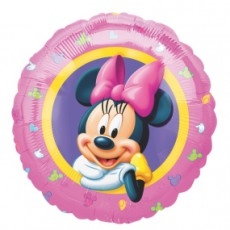 MINNIE MOUSE PORTRAIT - BALON FOLIE, FORMA ROTUNDA, DIAM. 45CM