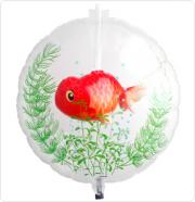PESTE IN BALON - RED FISH - BALON FOLIE, DIAM. 55CM
