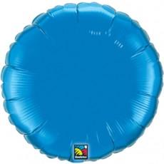 ROUND BLUE QUALATEX - BALON FOLIE, FORMA ROTUNDA, DIAM. 45CM
