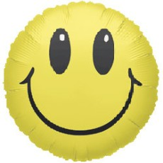 SMILEY YELLOW , BALON FOLIE, 45CM