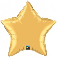STAR GOLD QUALATEX - BALON FOLIE, FORMA STEA, DIAM. 50CM