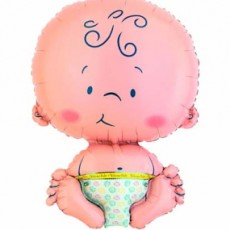 WELCOME BABY - BALON FOLIE BOTEZ FIGURINA BOTEZ, 41x61CM
