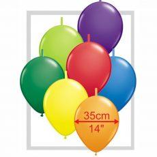 "BALOANE LATEX LINK-O-LOON PASTEL DIMENSIUNE 14"" / 35CM"