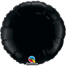 ROUND BLACK QUALATEX - BALON FOLIE, FORMA ROTUNDA, DIAM. 45CM