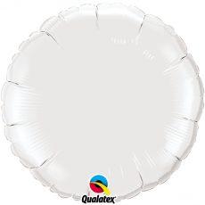 ROUND WHITE QUALATEX - BALON FOLIE, FORMA ROTUNDA, DIAM. 45CM