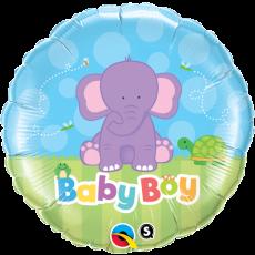 BABY BOY ELEPHANT, BALON FOLIE, 45CM