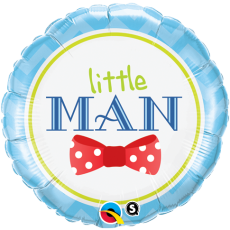 LITTLE MAN BOW TIE - BALON FOLIE BOTEZ, FORMA ROTUNDA, DIAM. 45CM