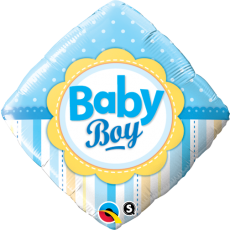 BABY BOY DOTS, BALON FOLIE, 45CM