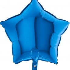 STAR BLUE - BALON FOLIE, FORMA STEA, DIAM. 46CM