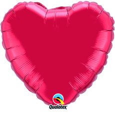 HEART RED QUALATEX - BALON FOLIE, FORMA INIMA, DIAM. 90CM