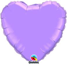 HEART LAVANDER QUALATEX - BALON FOLIE, FORMA INIMA, DIAM. 45CM