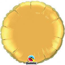 ROUND GOLD QUALATEX - BALON FOLIE, FORMA ROTUNDA, DIAM. 45CM