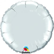ROUND SILVER QUALATEX - BALON FOLIE, FORMA ROTUNDA, DIAM. 45CM