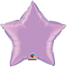 STAR LAVANDER QUALATEX - BALON FOLIE, FORMA STEA, DIAM. 50CM