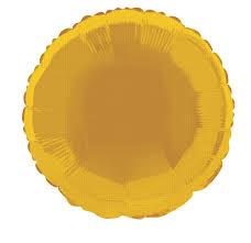 ROUND GOLD - BALON FOLIE, FORMA ROTUNDA, DIAM. 35CM