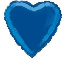 HEART BLUE, BALON FOLIE, 35CM
