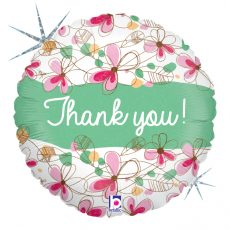 THANK YOU! (MULTUMESC!) -  BALON FOLIE, FORMA ROTUNDA, DIAM. 46CM