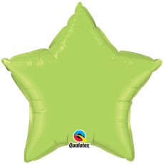 STAR LIGHT GREEN QUALATEX - BALON FOLIE, FORMA STEA, DIAM. 50CM