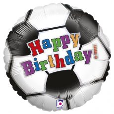 SOCCER BALL BIRTHDAY - BALON FOLIE ANIVERSARE, FORMA ROTUNDA, DIAM. 46CM