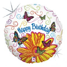 ART POP BIRTHDAY - BALON FOLIE ANIVERSARE, FORMA ROTUNDA, DIAM. 46CM