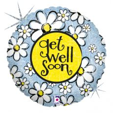 GET WELL SOON (SANATATE!) - BALON FOLIE, FORMA ROTUNDA, DIAM. 46CM