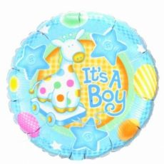 BALON FOLIE IT'S A BOY SOFT GIRAFFE 45CM
