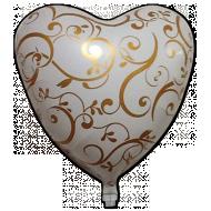 WEDDING HEART FLOWER, BALON FOLIE, 45CM